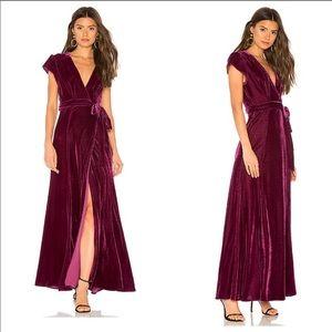 Tularosa velvet wrap dress S